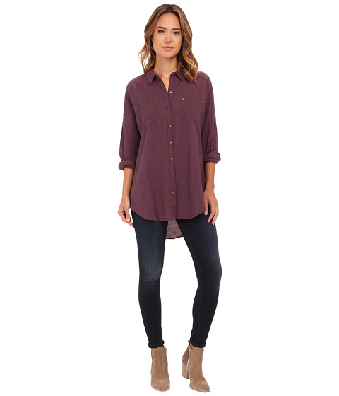 Free People - Love Her Madly Top (Charcoal Combo) Women