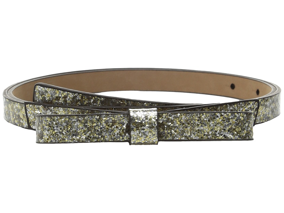 Kate Spade New York - Glitter Classic Bow Belt (Silver/Gold/Rose) Women's Belts