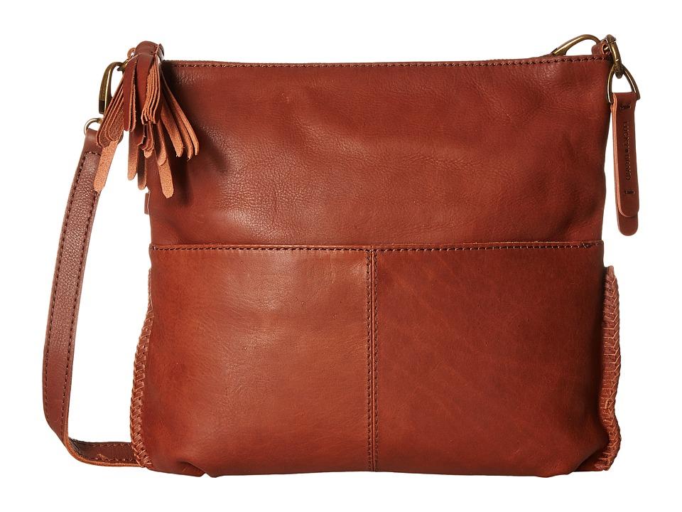 Lucky Brand - Harper Foldover Crossbody (Brandy) Cross Body Handbags