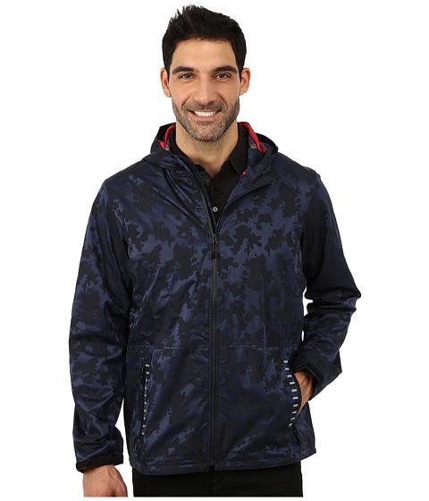 Robert Graham - Nipomo Long Sleeve Woven Jacket (Navy) Men's Coat