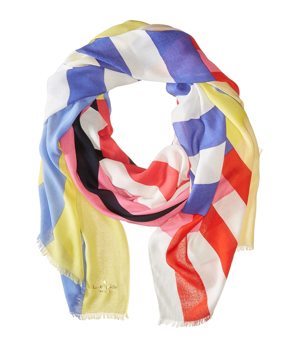 Kate Spade New York - Flag Stripes Oblong Scarf (Multi) Scarves