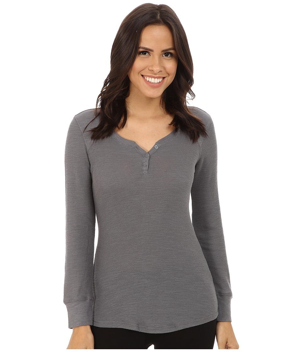 P.J. Salvage - Slub Basics Thermal Top (Grey) Women's Pajama