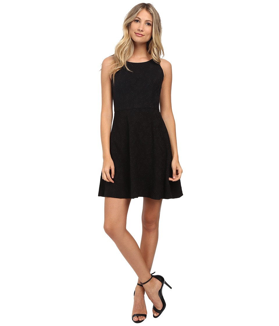 Jessica Simpson - Bow Back Jacquard Fit and Flare (Black) Women's Dress