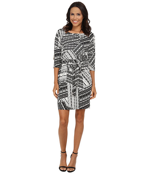 Jessica Simpson - Printed Ity Split Sleeve (Print) Women's Dress