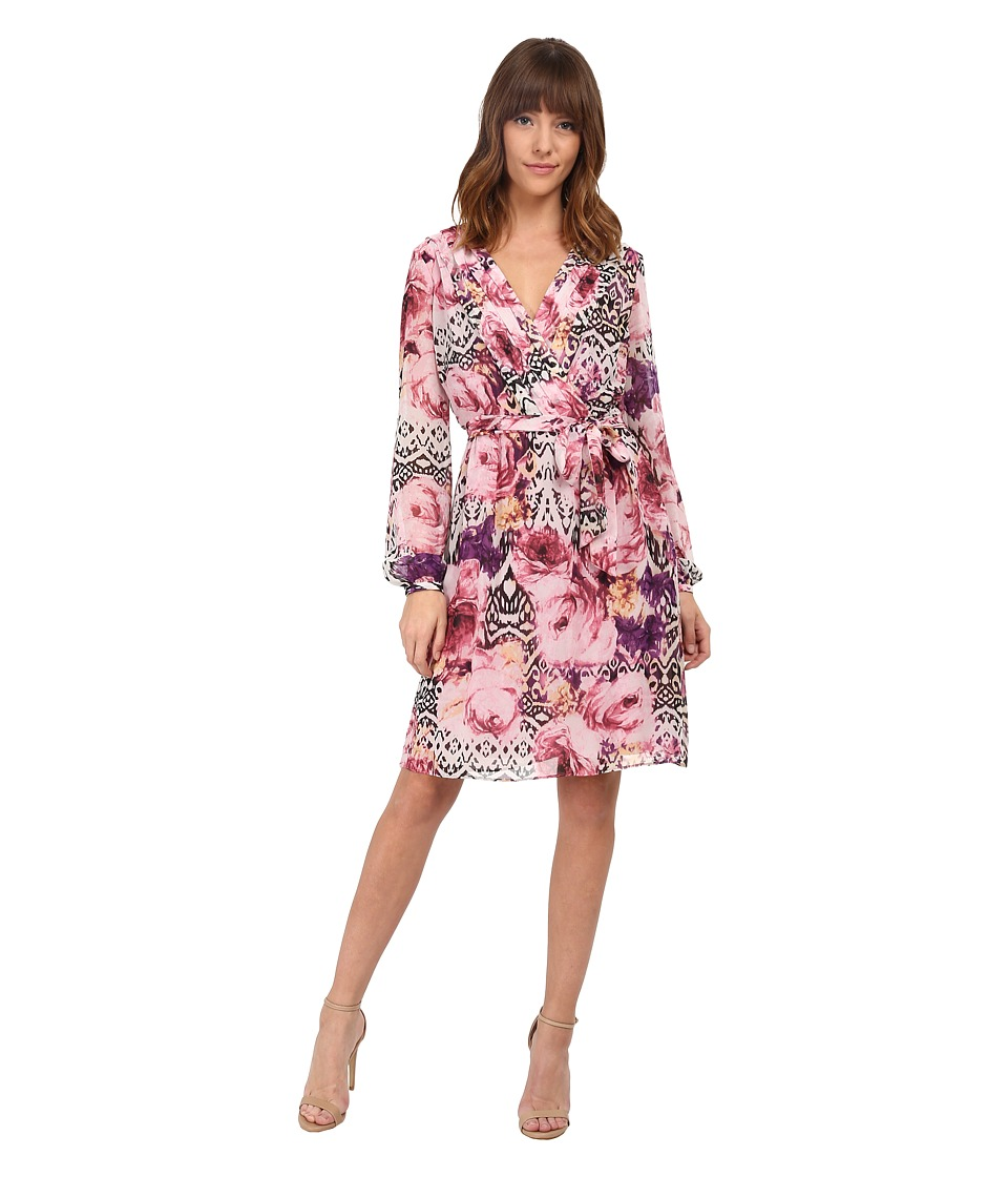 Jessica Simpson - Chiffon Long Sleeve Floral Dress (Lupita Print) Women's Dress