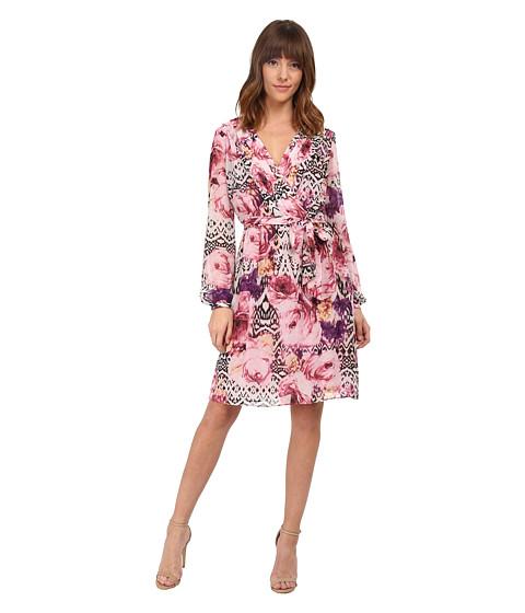 Jessica Simpson - Chiffon Long Sleeve Floral Dress (Lupita Print) Women's Dress