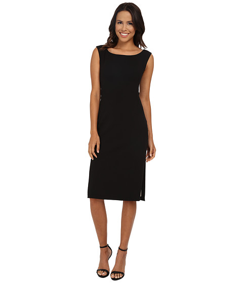Maggy London - Crepe Scuba Sheath with Contrast Lining (Black) Women