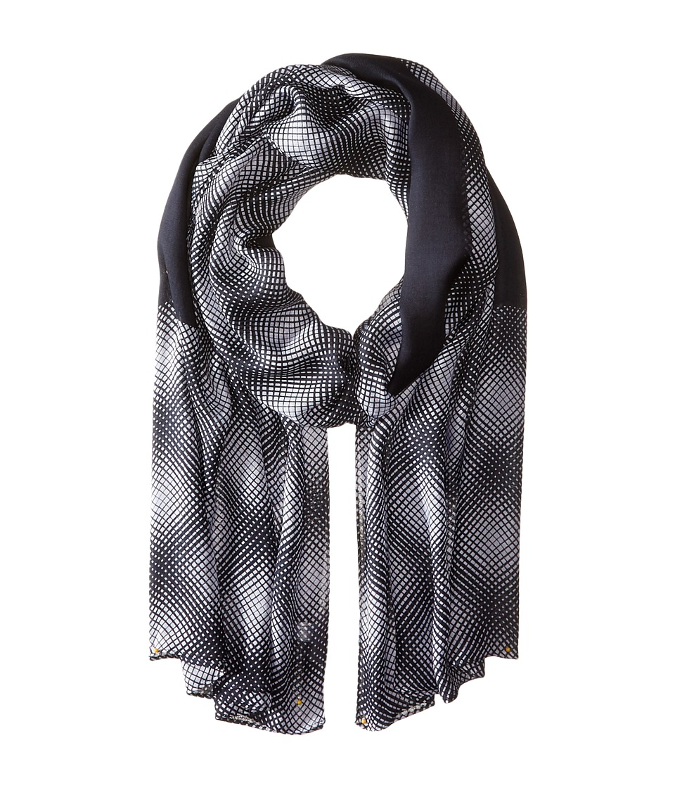 MICHAEL Michael Kors - Mystic Oblong (White/Navy) Scarves