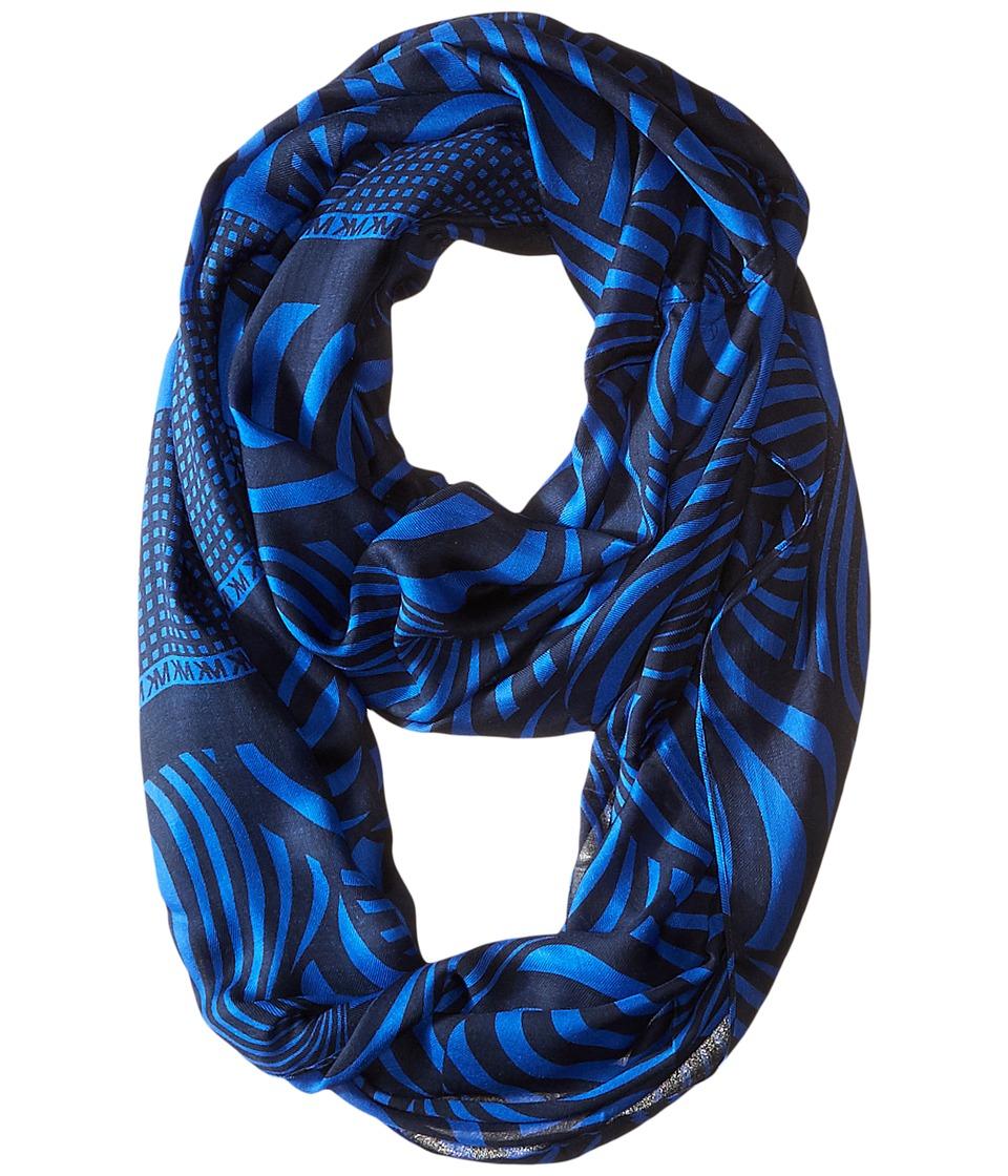 MICHAEL Michael Kors - Cooper Jubilee Infinity (Navy/Blue) Scarves
