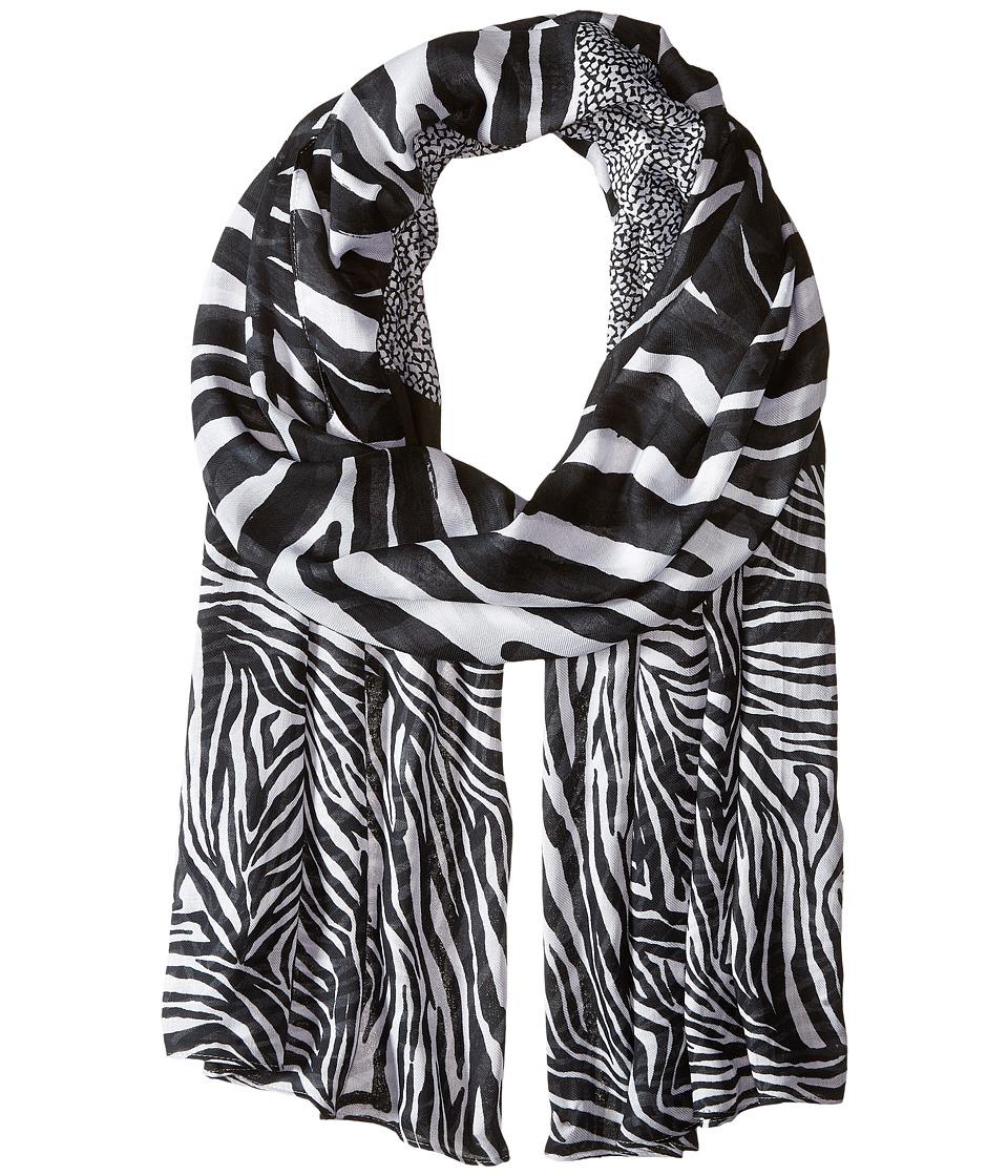 MICHAEL Michael Kors - Zahra Kendal Zebra Oblong (White/Black) Scarves