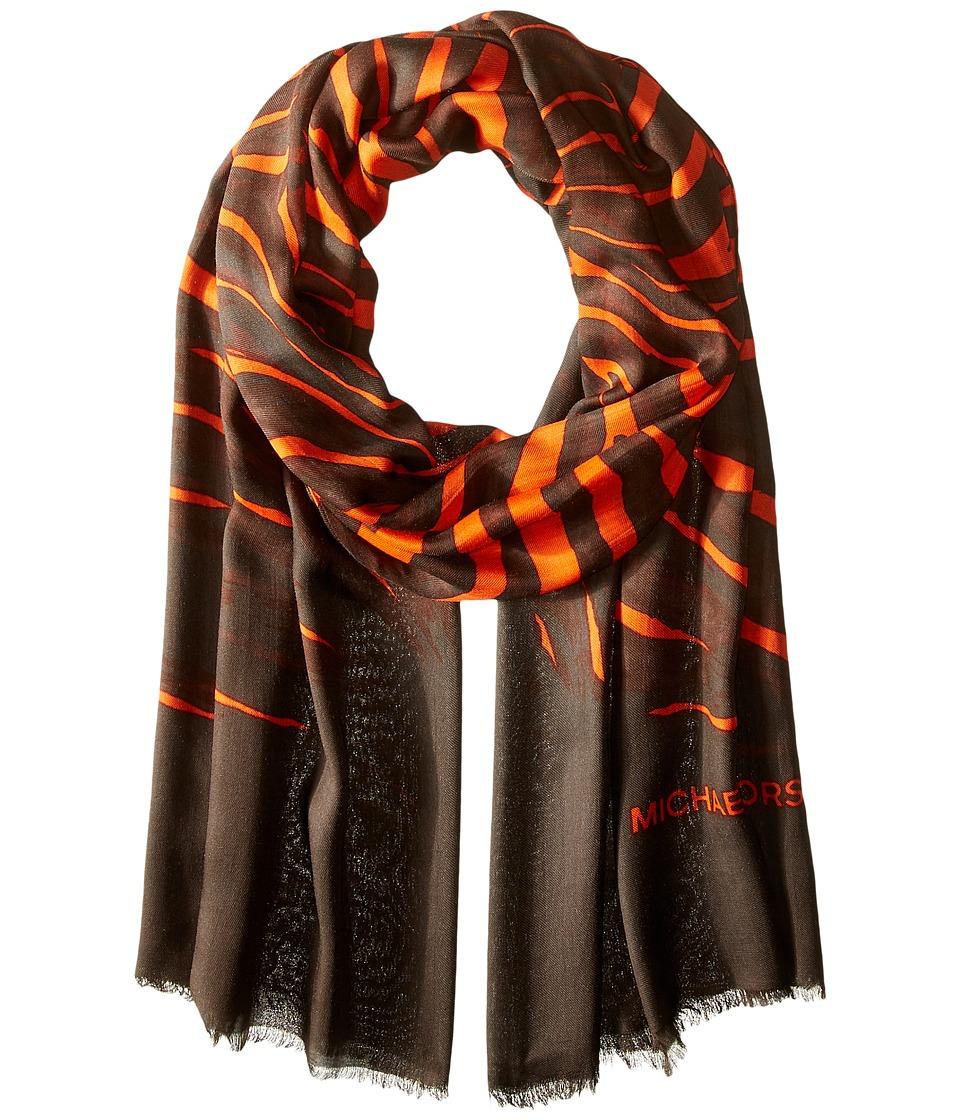 MICHAEL Michael Kors - Zahra Oblong (Mandarin/Chocolate) Scarves