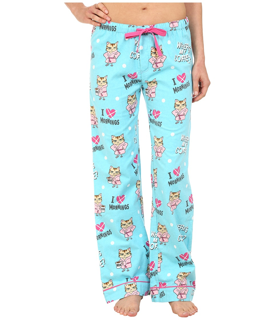 P.J. Salvage - Cat Print Lounge Pants (Aqua) Women's Pajama