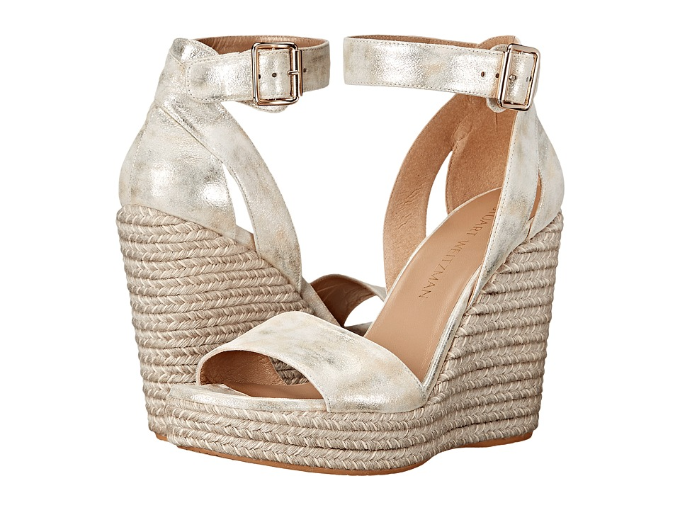 Stuart Weitzman - Mostly (Pale Gold Clouded Nappa) Women's Shoes