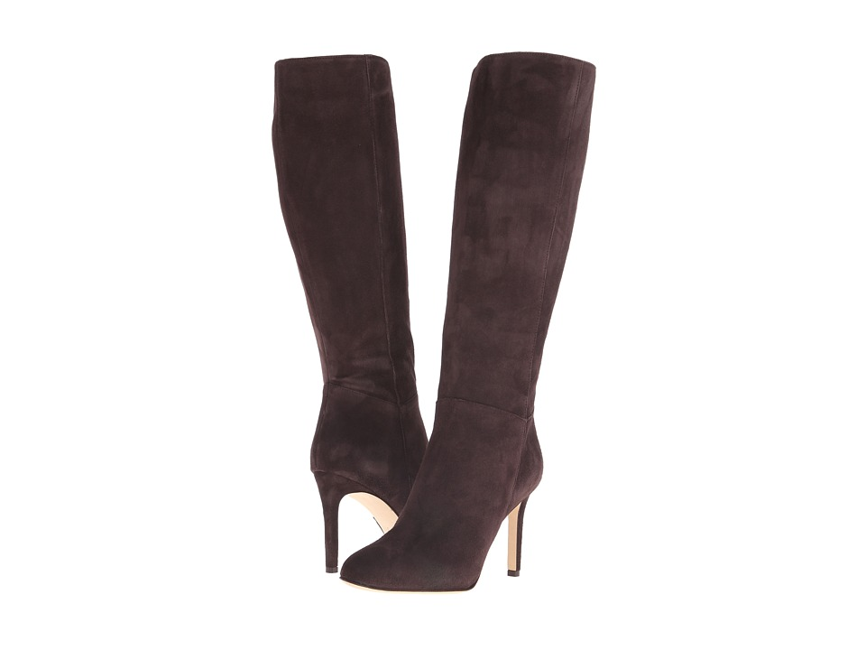 Massimo Matteo - Side Zip Knee Boot (Brown Suede) Women