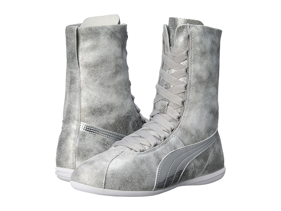 PUMA - Eskiva High Metallic (Silver) Women's Shoes