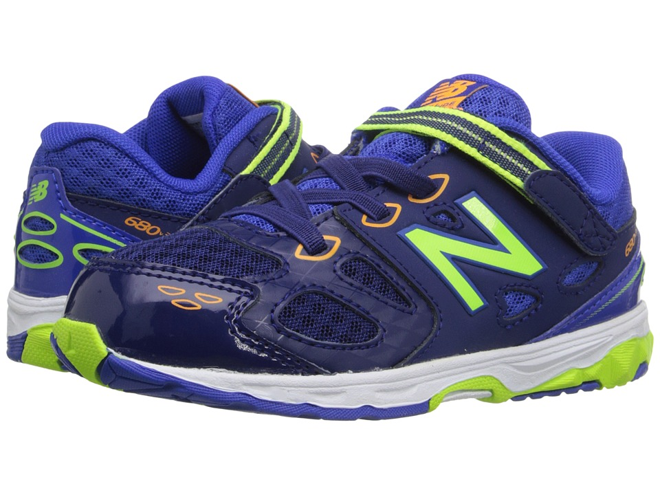 New Balance Kids - KA680 (Infant/Toddler) (Blue/Green) Boys Shoes