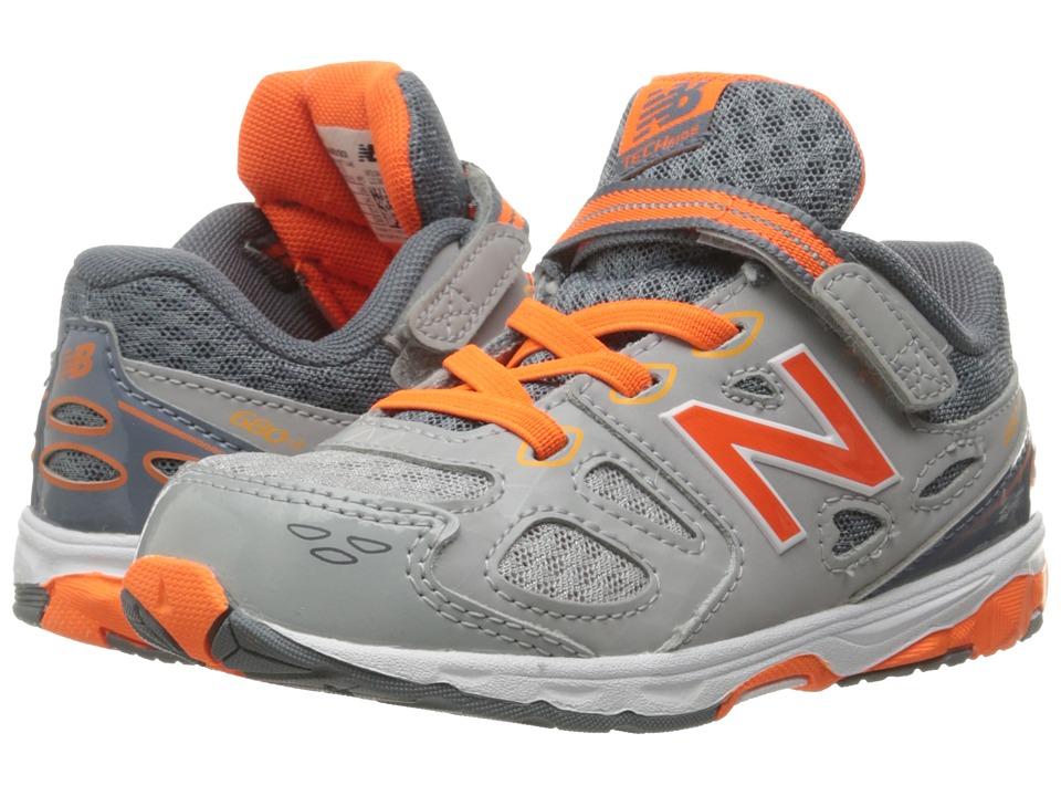 New Balance Kids - KA680 (Infant/Toddler) (Grey/Orange) Boys Shoes