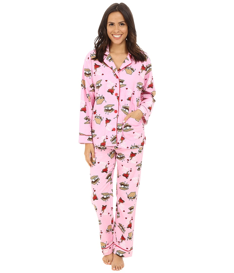 P.J. Salvage - Smore Flannel Sleep PJ Set (Pink) Women's Pajama Sets