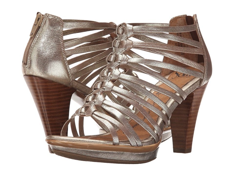 Sofft Rendon (Satin Gold Grid Metallic) High Heels