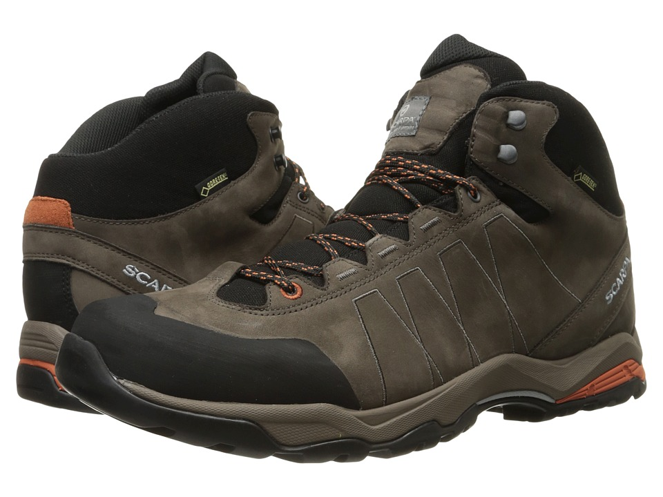 Scarpa - Moraine Plus Mid GTX (Charcoal/Mango) Men's Shoes