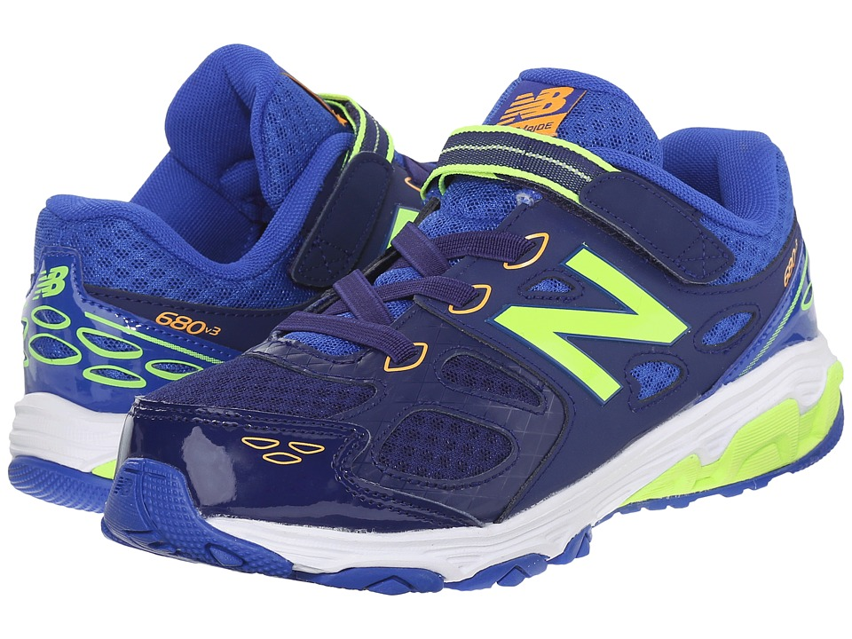 New Balance Kids - KA680 (Little Kid/Big Kid) (Blue/Green) Boys Shoes