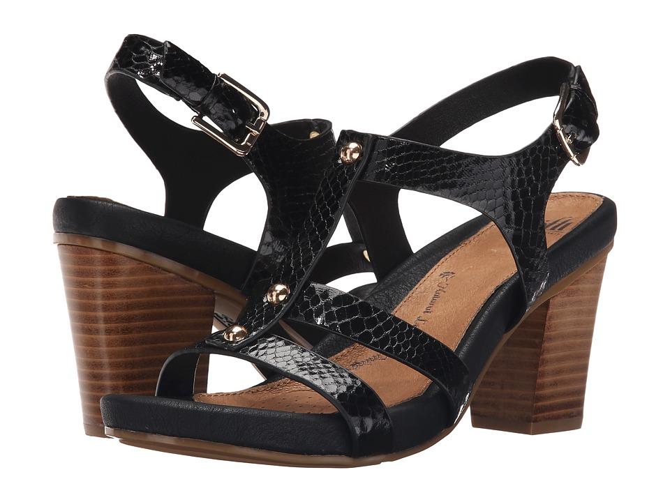 Sofft Deidra (Black Snake Print) High Heels