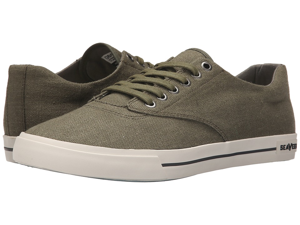 SeaVees - 08/63 Hermosa Plimsoll Standard (Palm Green) Men's Shoes
