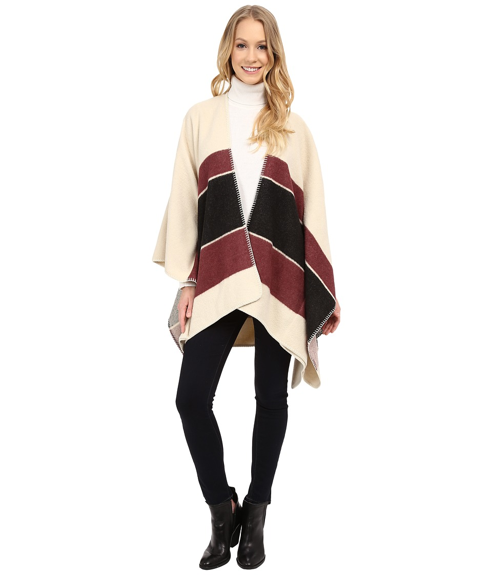 Sanctuary - Blanket Wrap Jacket (Moonrise Base/Mulberry Stripe/Charcoal Stripe) Women's Coat