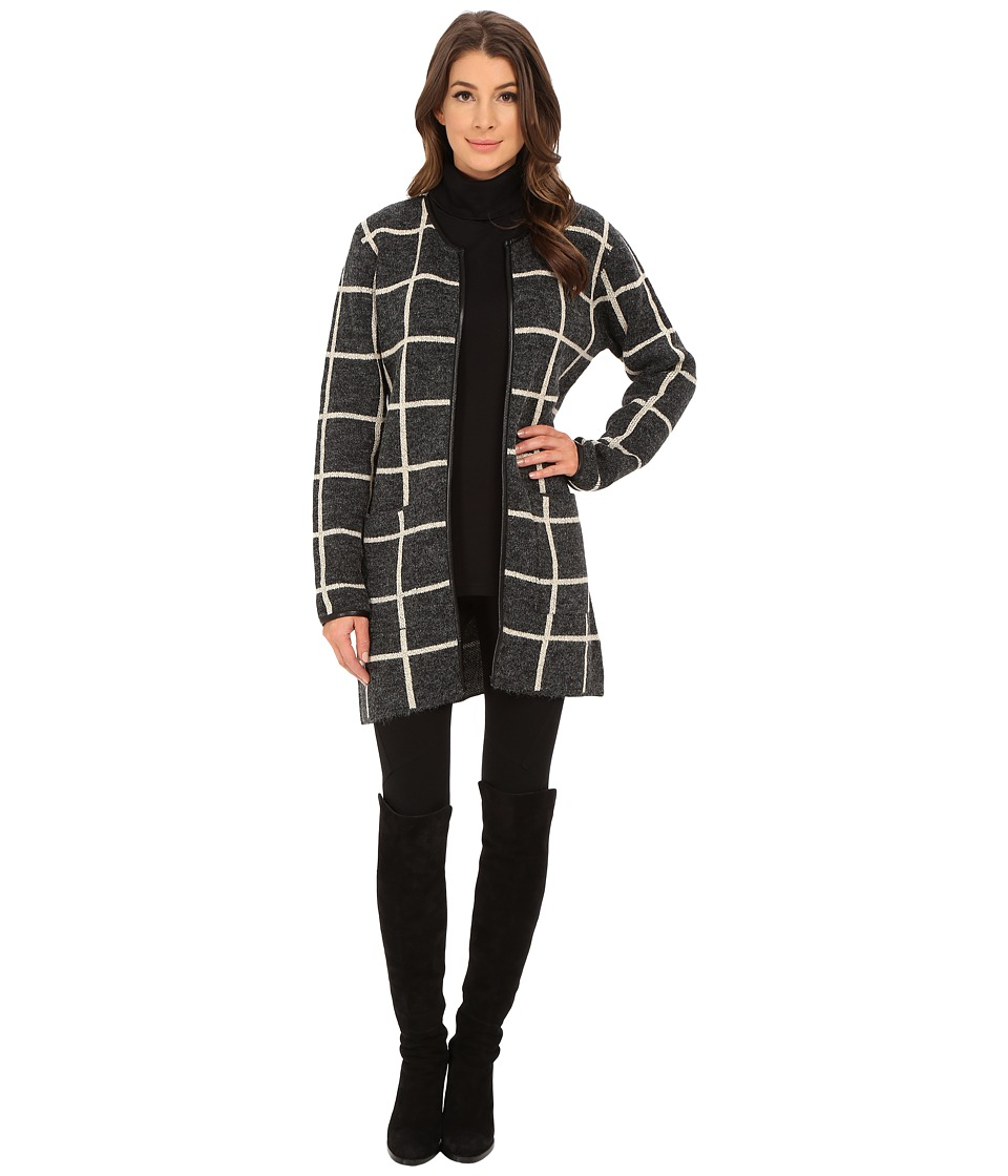 Sanctuary - Essential Grid City Coat (Windowpane) Women's Coat