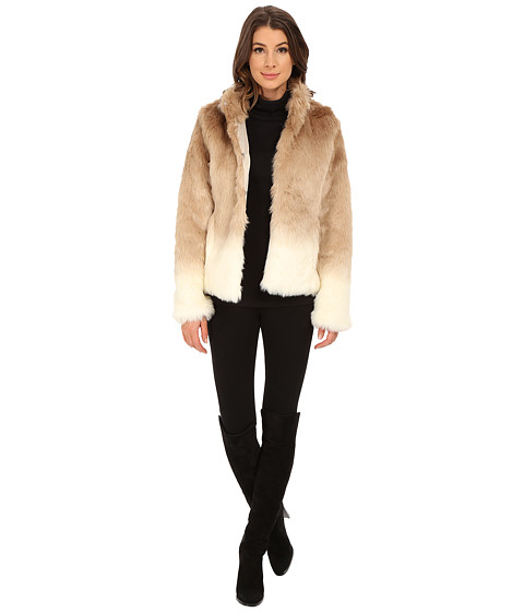 Sanctuary - Fur Chubby Jacket (Ombre Praline) Women