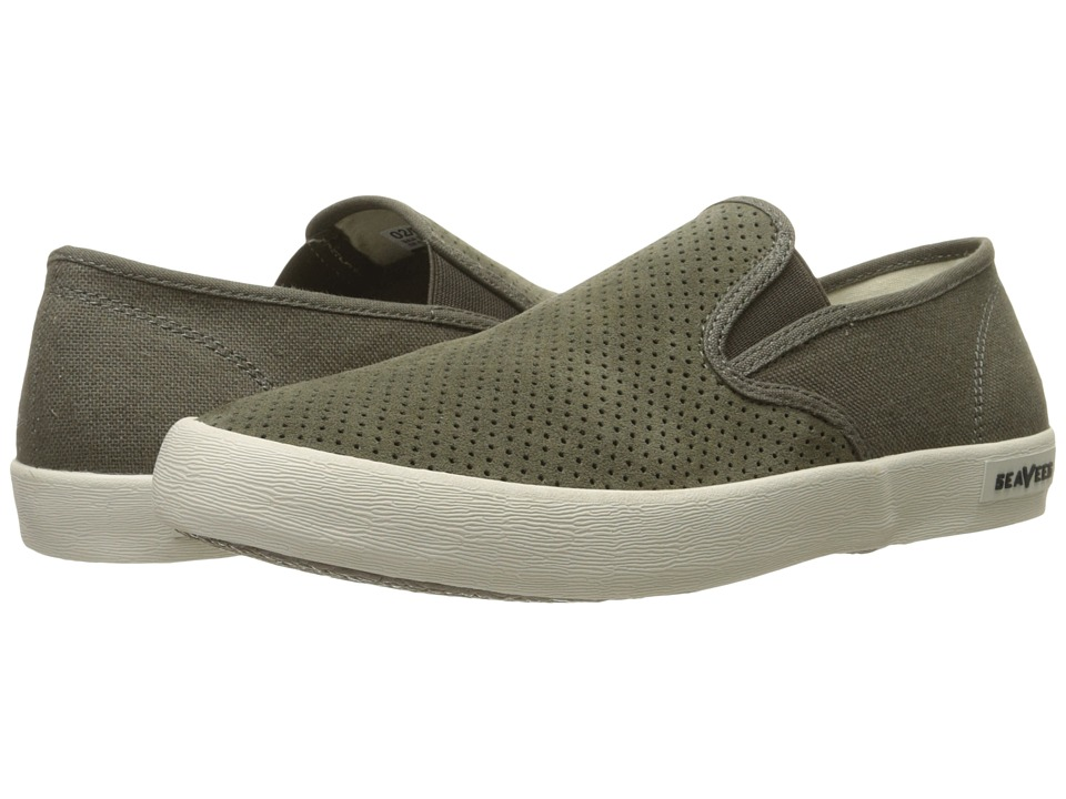 SeaVees - 02/64 Baja Slip-On Biltmore (Cafe Noir Perforated Suede/Hemp) Men