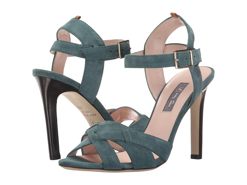 SJP by Sarah Jessica Parker - Cameron (Evergreen Suede) Women's Sandals