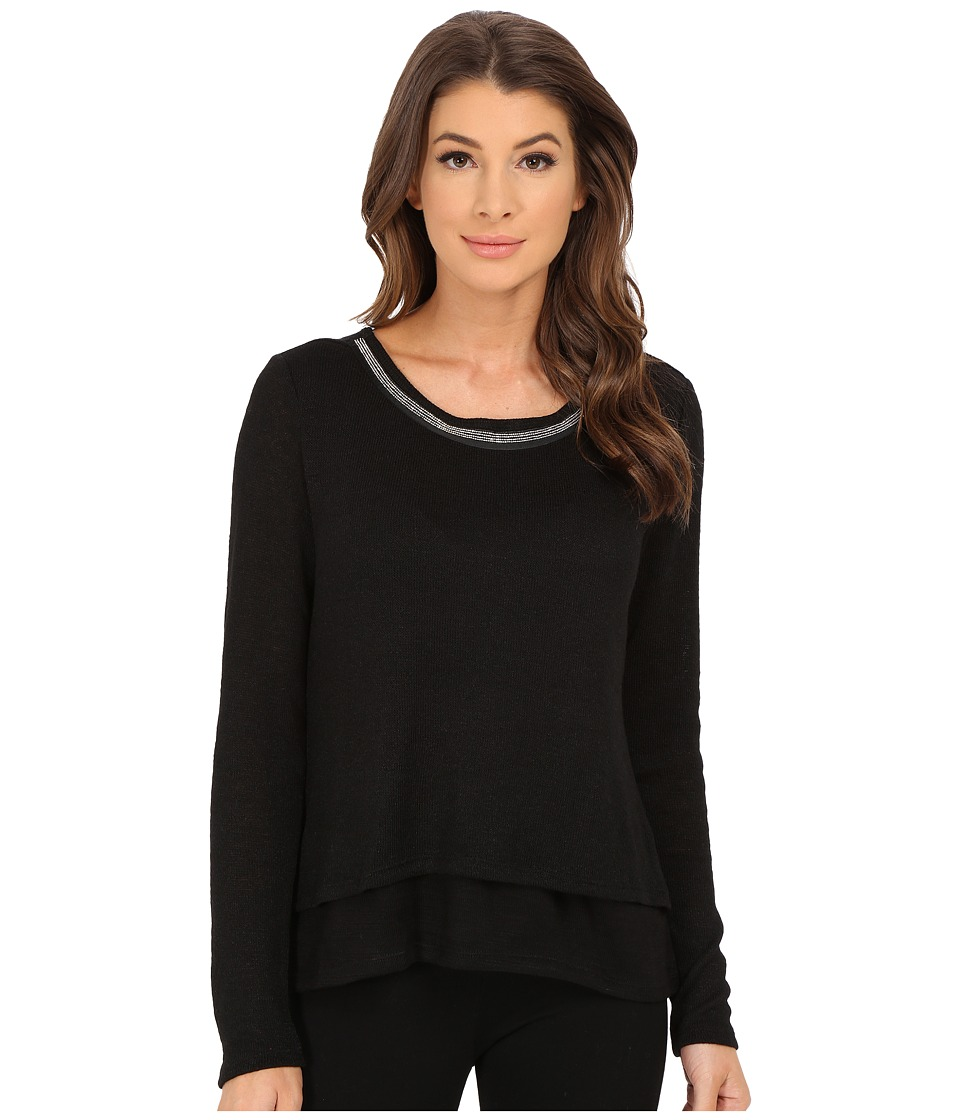 Sanctuary - Michelle Mash Up (Black) Women's Sweater