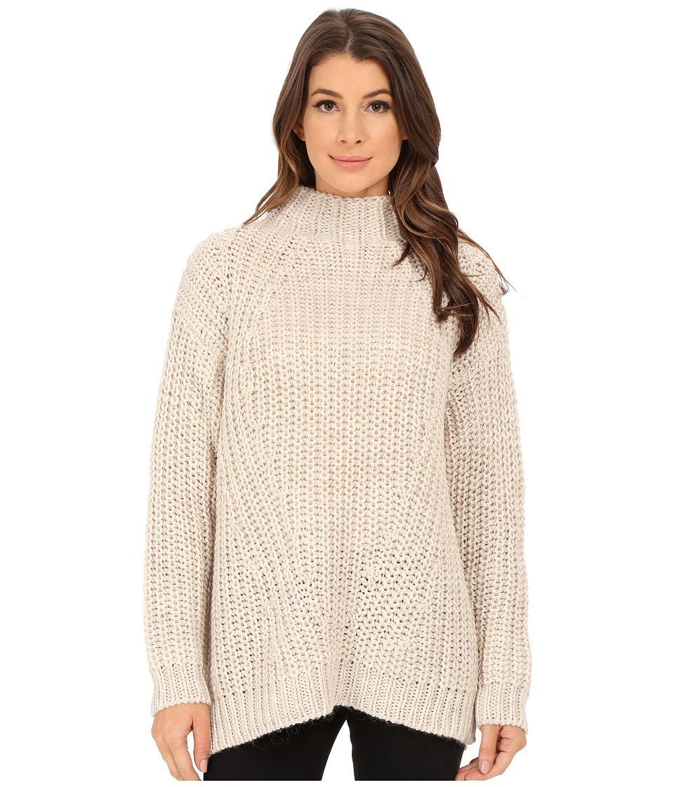 Sanctuary - Oval Mock Sweater (Silver) Women