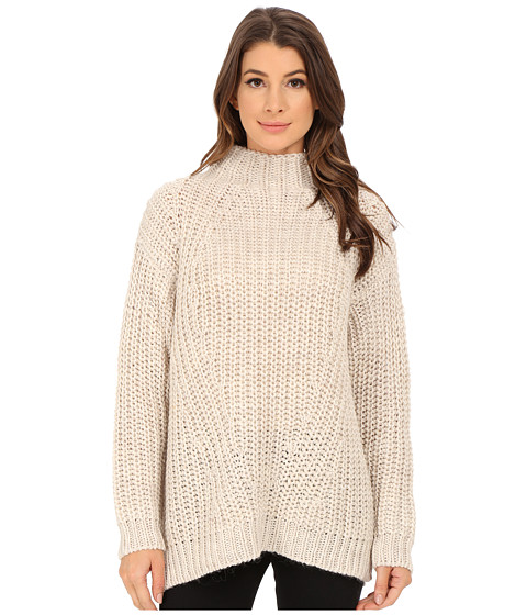 Sanctuary - Oval Mock Sweater (Silver) Women's Sweater