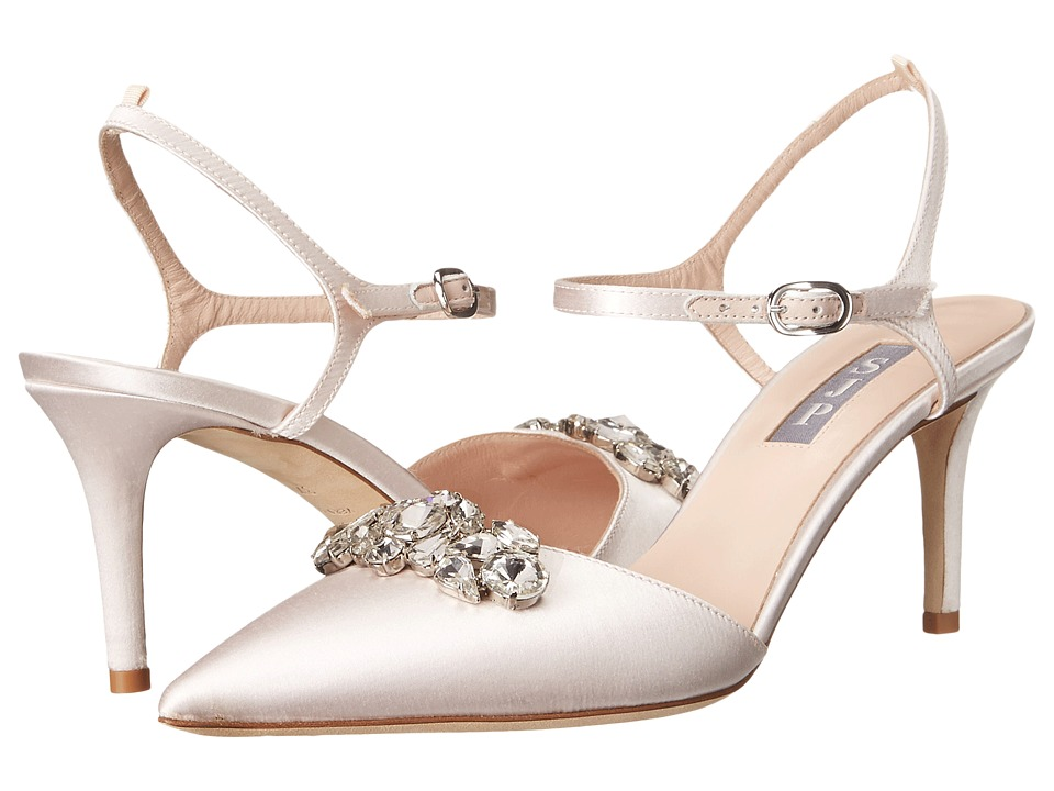 SJP by Sarah Jessica Parker - Claudia (Moonstone Satin) Women's Shoes
