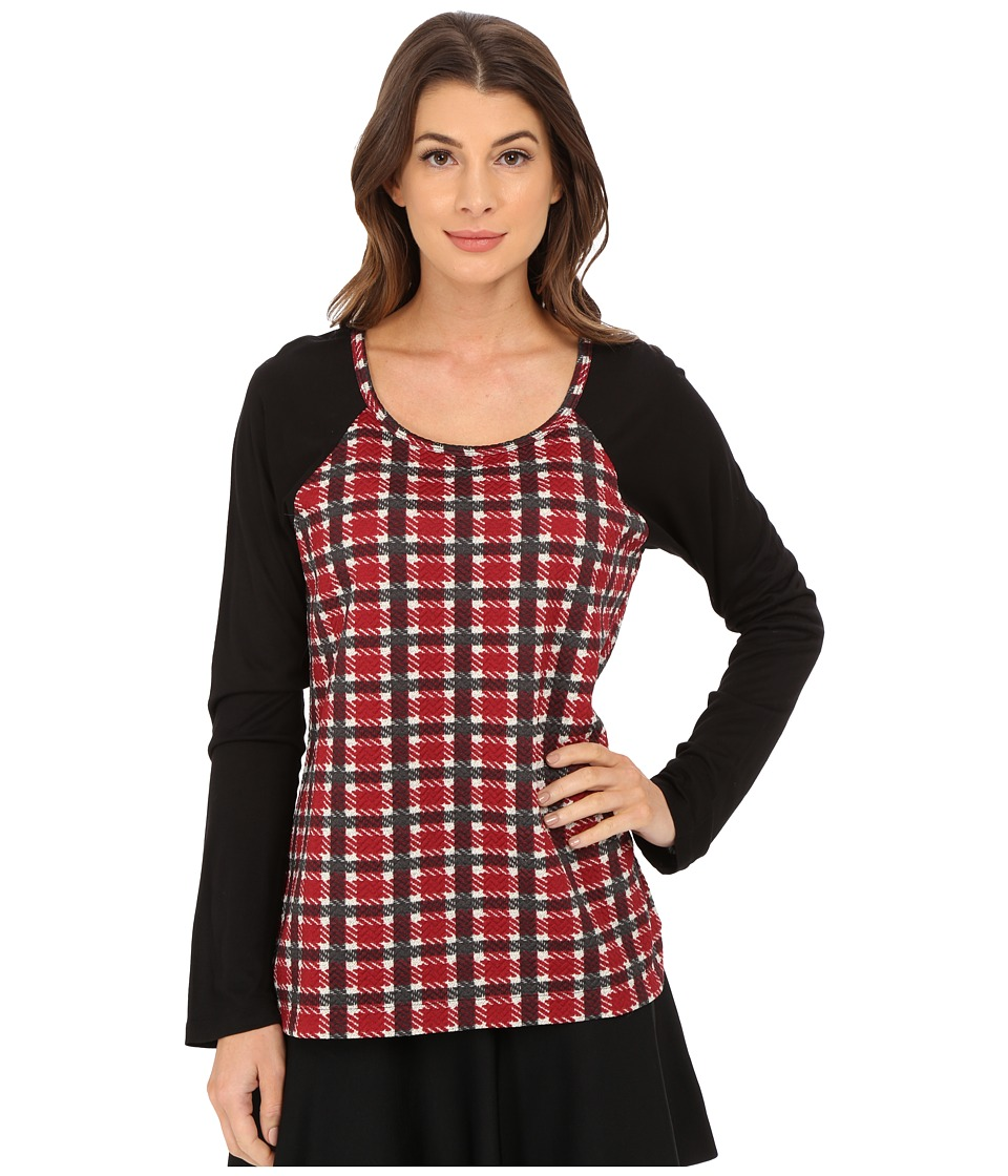 Sanctuary - Plaid Baseball Tee (Vintage Plaid) Women's T Shirt