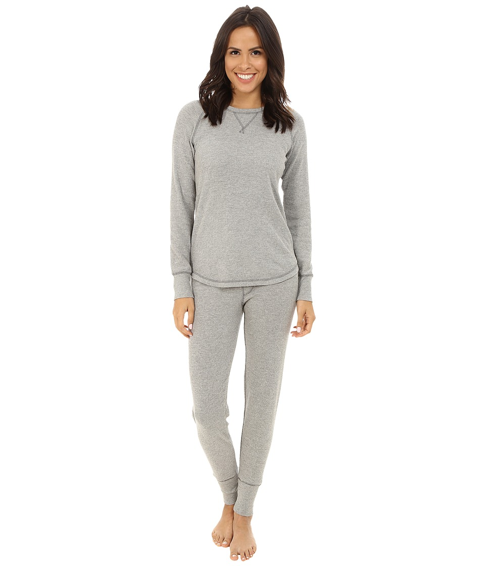 P.J. Salvage - Ski Jammies Set (Heather Grey) Women's Pajama Sets