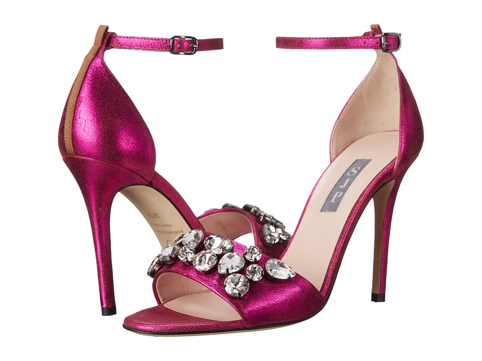 SJP by Sarah Jessica Parker - Pandemonium (Win Fuchsia Leather) Women's Sandals