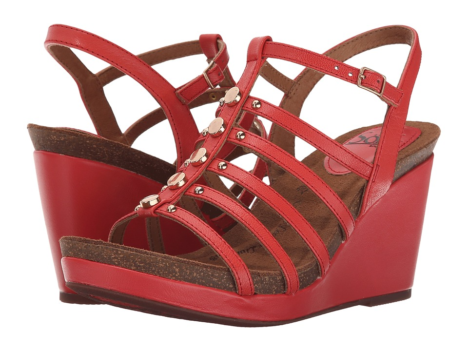 Sofft - Cassie (Coral Goat Light Pull Up) Women's Wedge Shoes