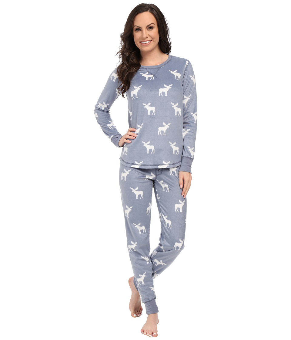 P.J. Salvage - Ski Jammies Set (Denim Moose) Women's Pajama Sets