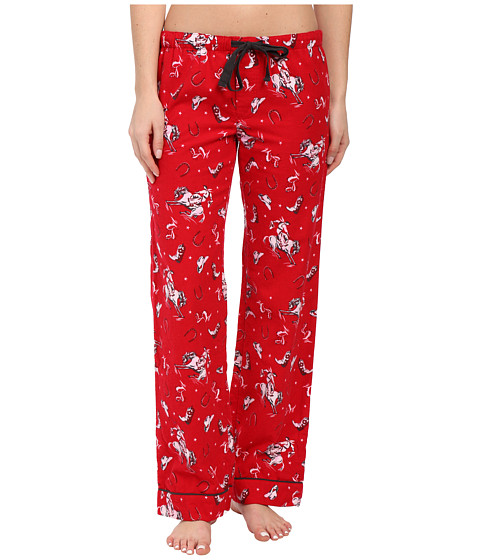 P.J. Salvage - Western Flannel Sleep Pants (Red) Women