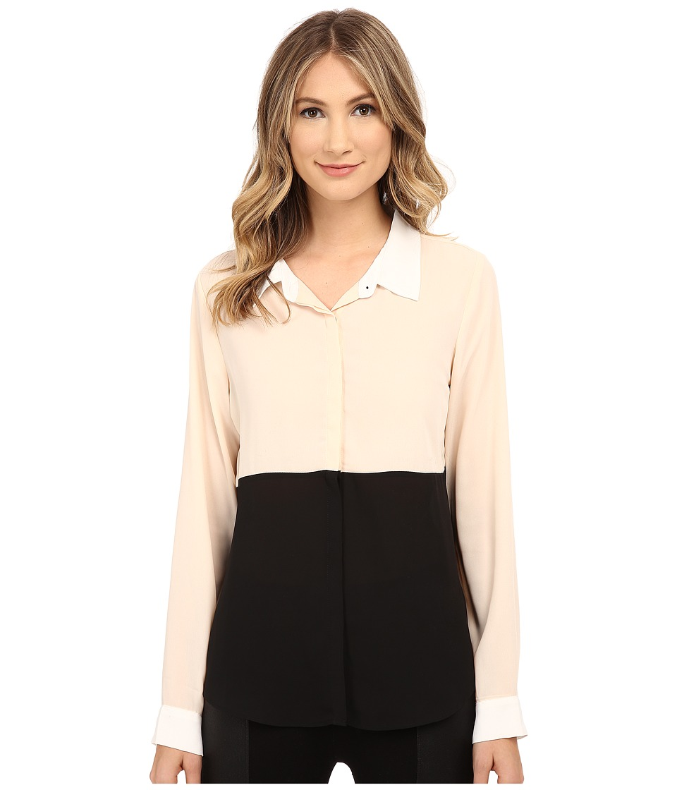 Sanctuary - Essential Modernist Blouse (Praline/Black/Winter White) Women's Blouse