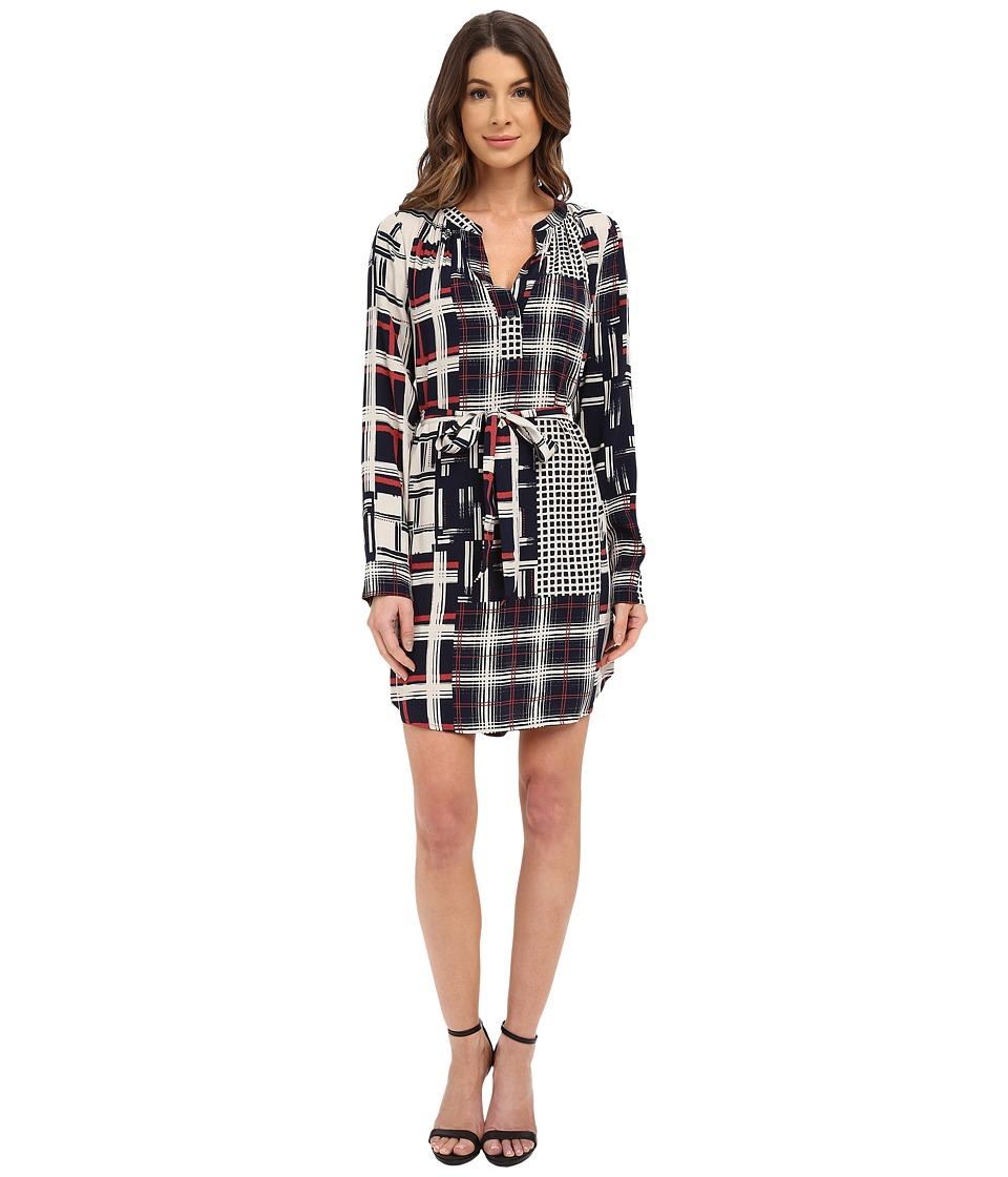 Sanctuary - City Shirtdress (Graphic Patchwork) Women's Dress