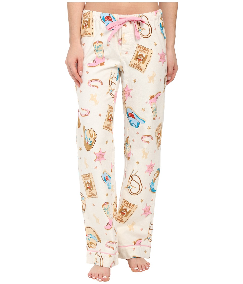 P.J. Salvage - Wanted Flannel Sleep Pants (Natural) Women's Pajama