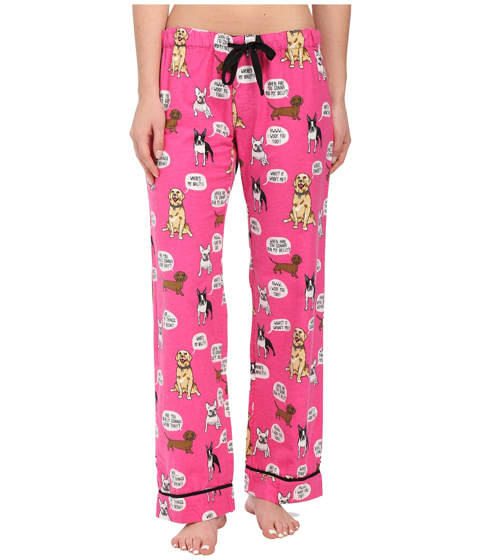 P.J. Salvage - Dog Flannel Sleep Pants (Hot Pink) Women's Pajama