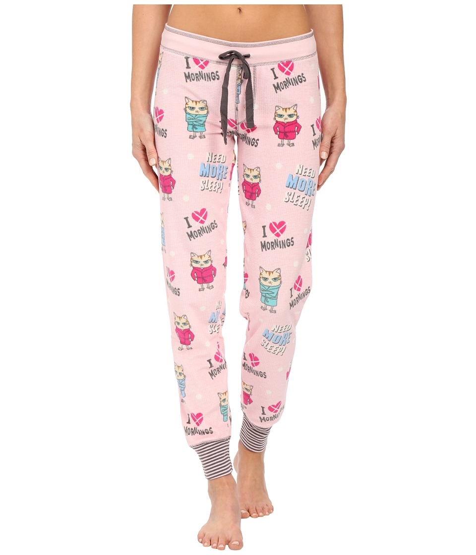 P.J. Salvage - Need Sleep Thermal Lounge Pants (Pink) Women's Pajama