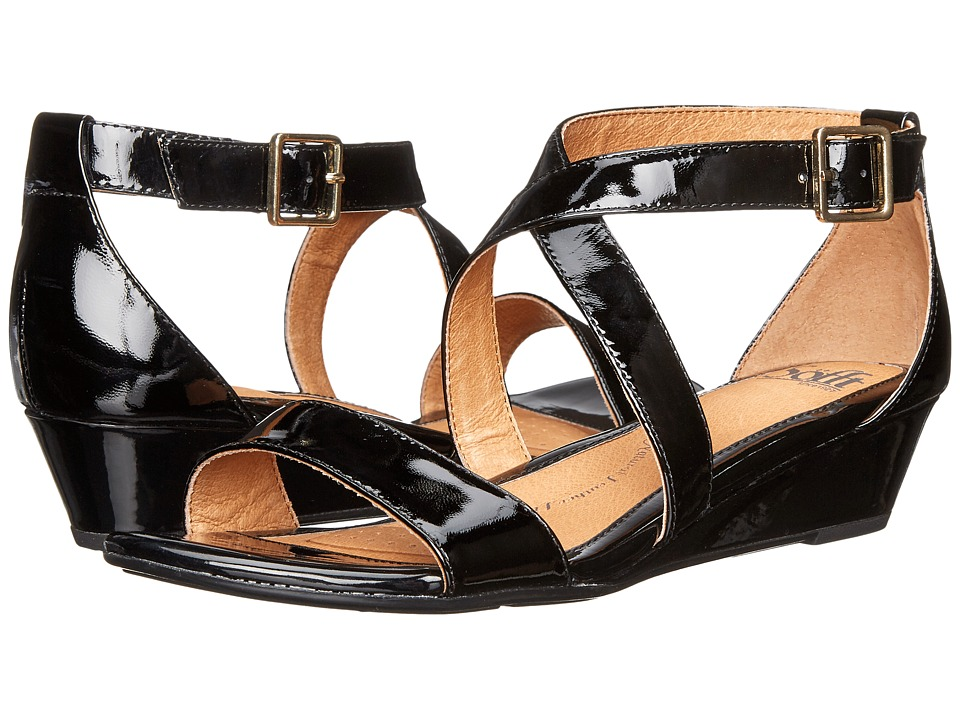 Sofft - Innis (Black Patent) Women's Wedge Shoes