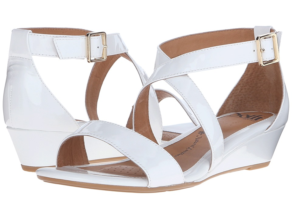 Sofft - Innis (White Patent) Women's Wedge Shoes