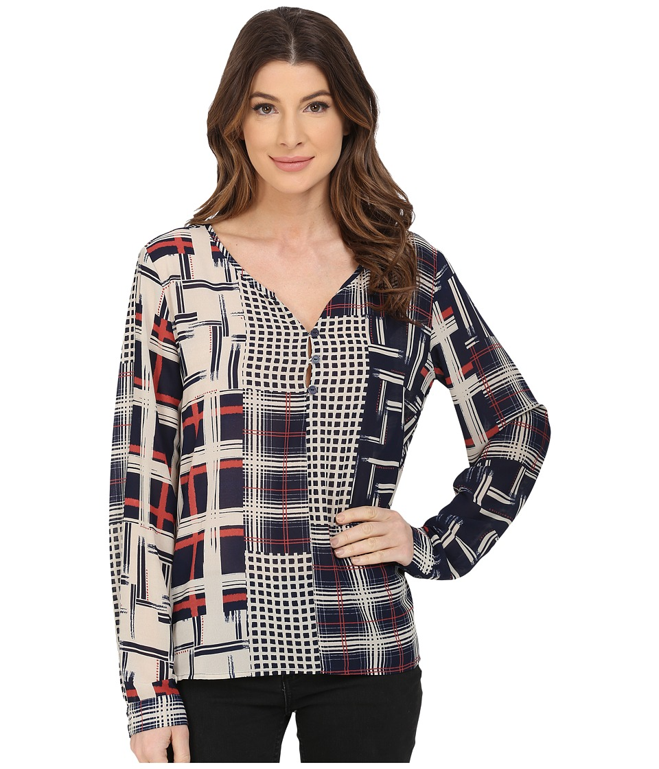 Sanctuary - Lara Blouse (Graphic Patchwork) Women's Blouse